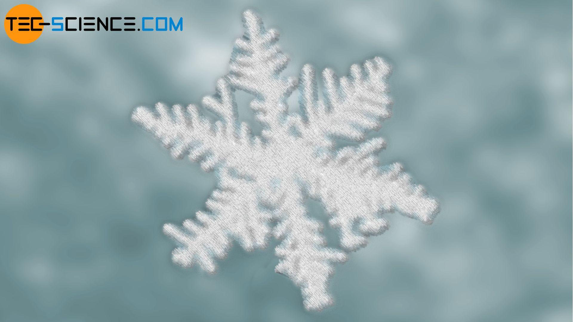 Kristallisation Schneeflocke