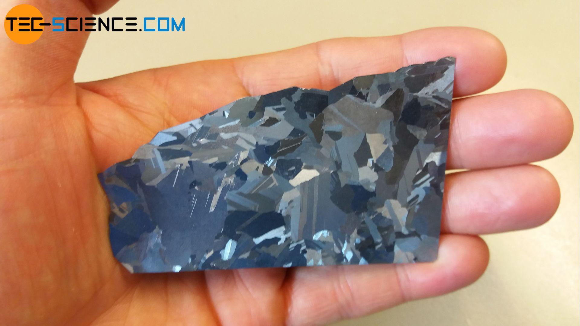 Polykristallines Silizium einer Solarzelle