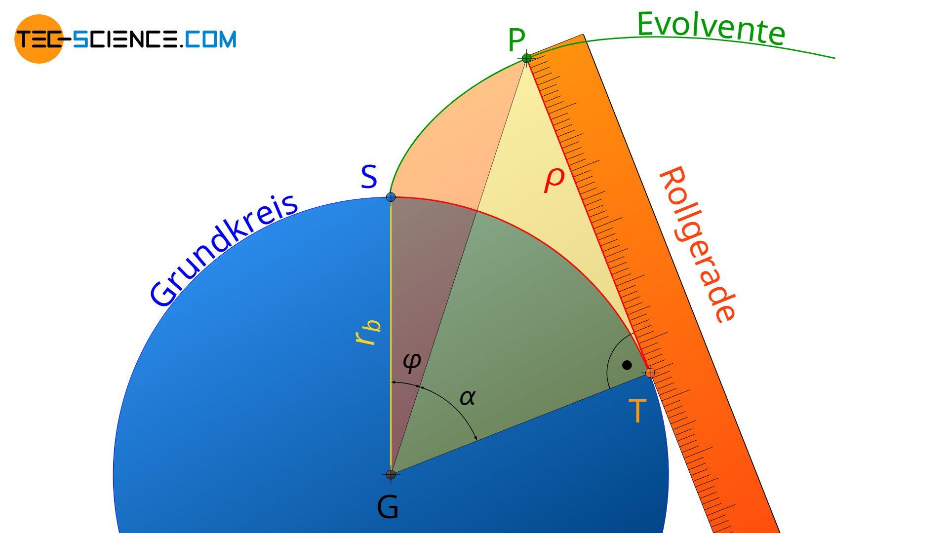 Definition der Evolventenfunktion (involut-Funktion)