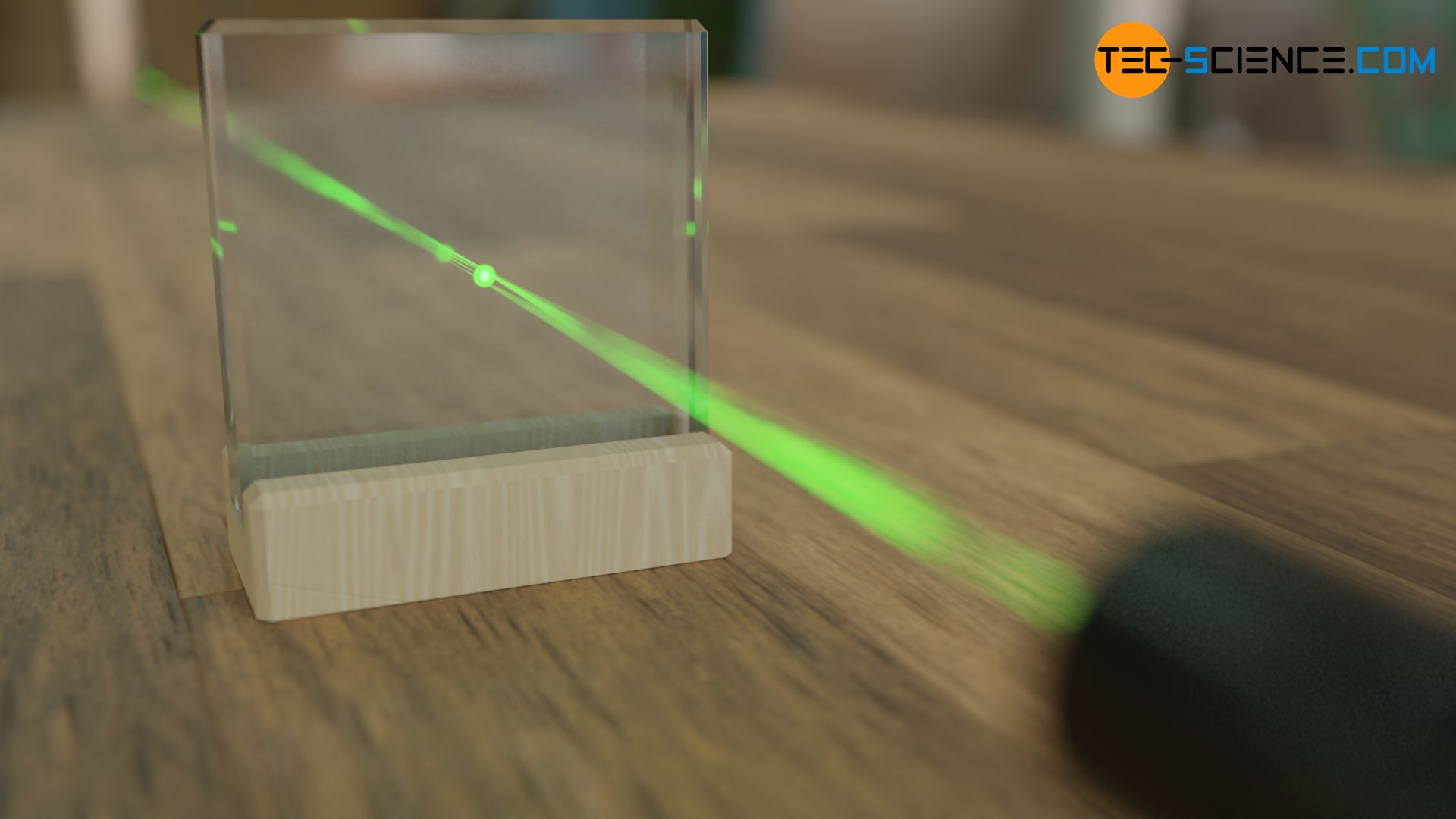 Transmission von Licht durch Glas