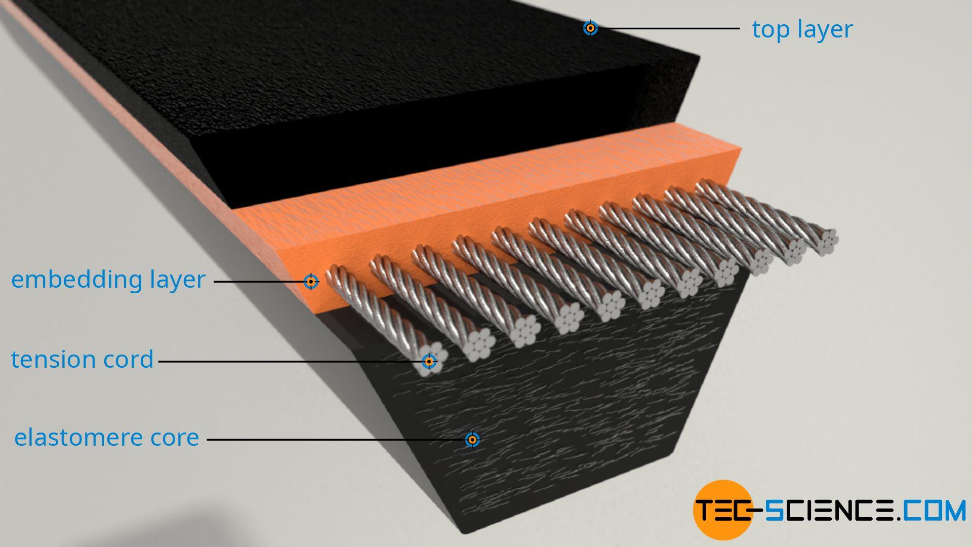 Standard V-belt (raw edge)