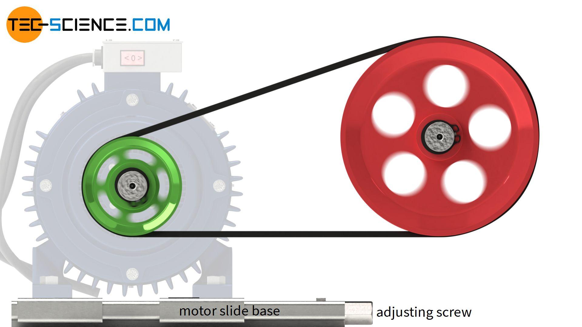 Motor slide base
