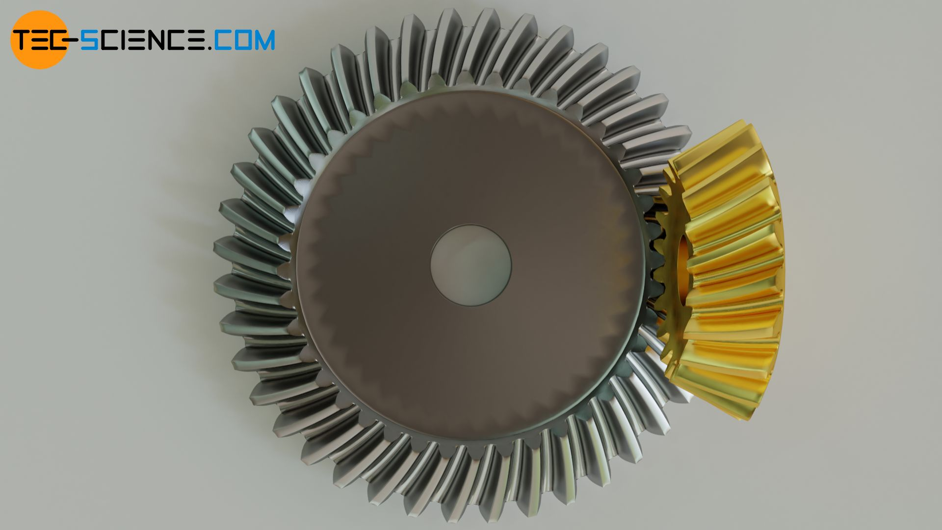 Spiral tooth line of a bevel gear
