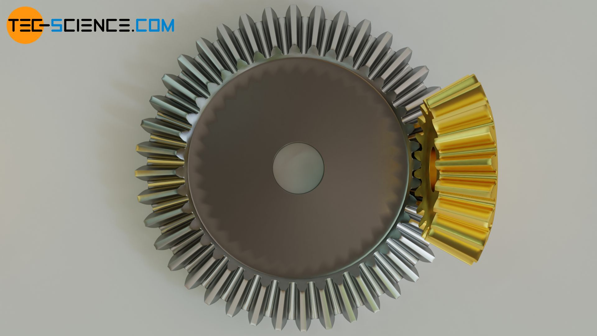 Straight-cut tooth line of a bevel gear
