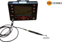Measuring tool for eddy current testing