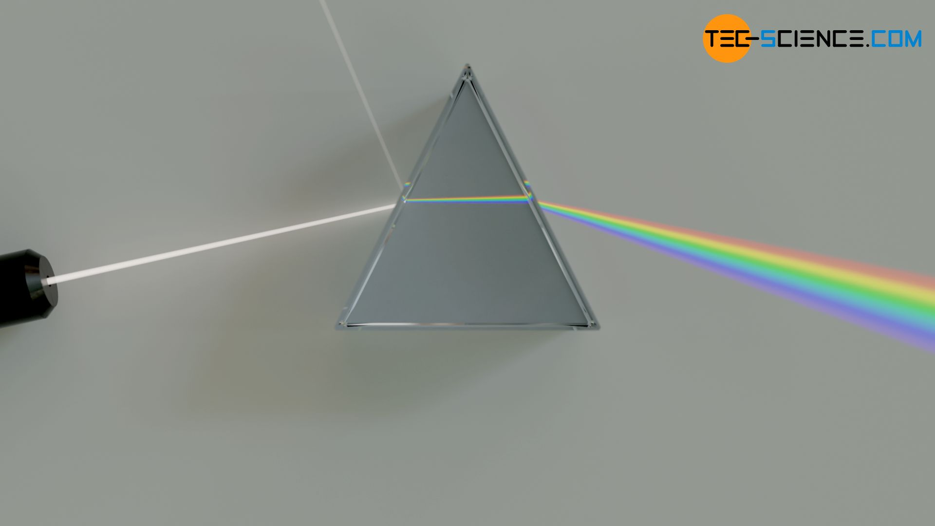 Light refraction in a prism (dispersion)