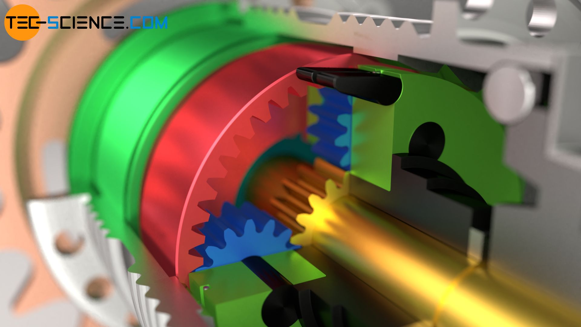 Ring gear of the planetary gear unit of a three-speed internal-gear hub