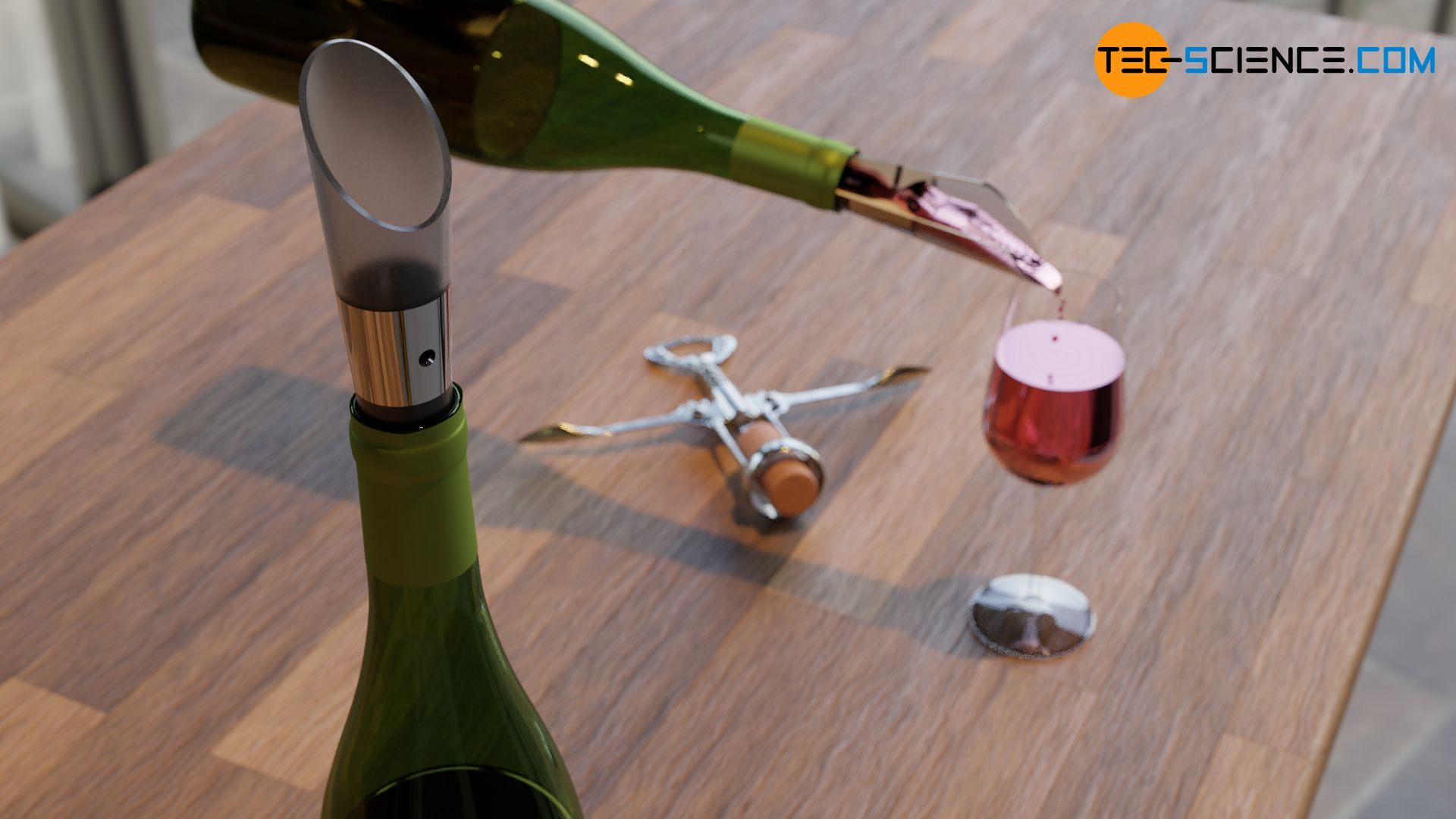 Dekantieraufsatz einer Weinflasche