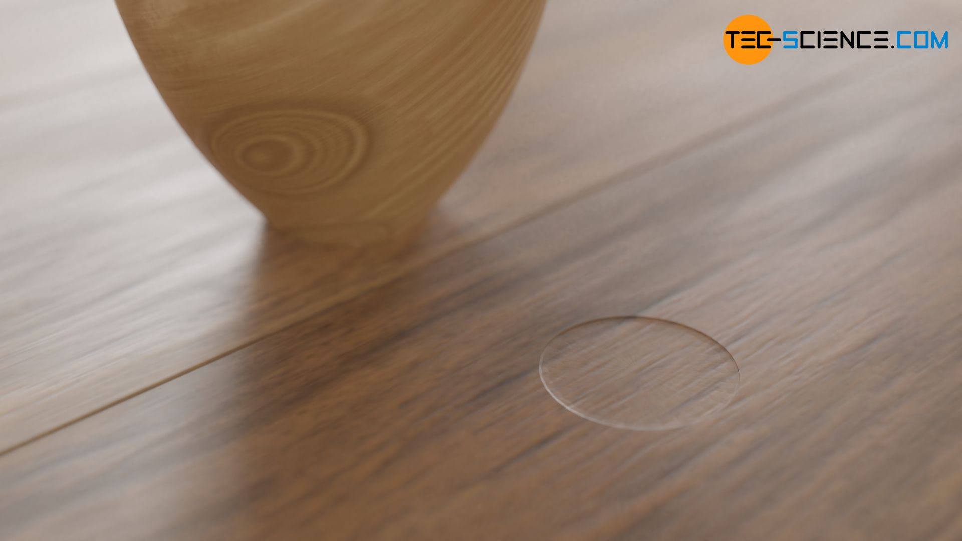 Pressure mark of a heavy table on a floor