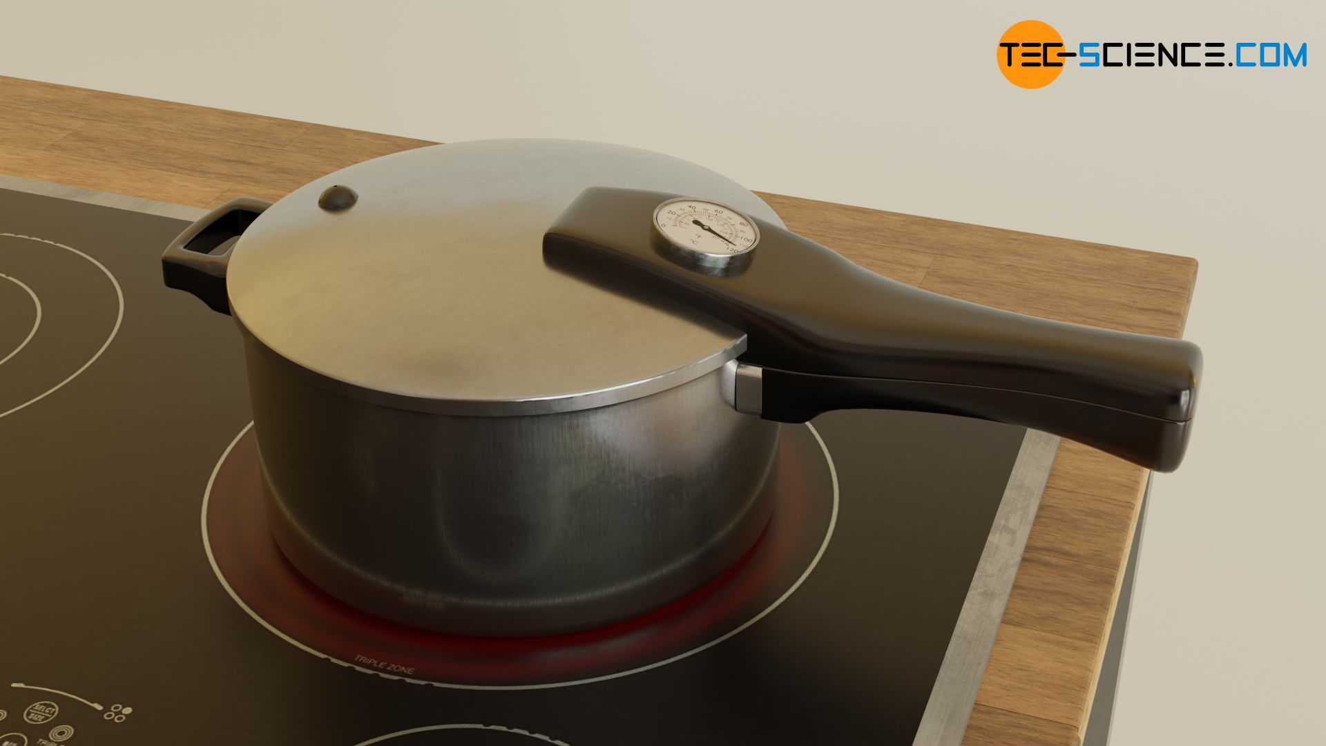 Increasing the boiling temperature in a pressure cooker