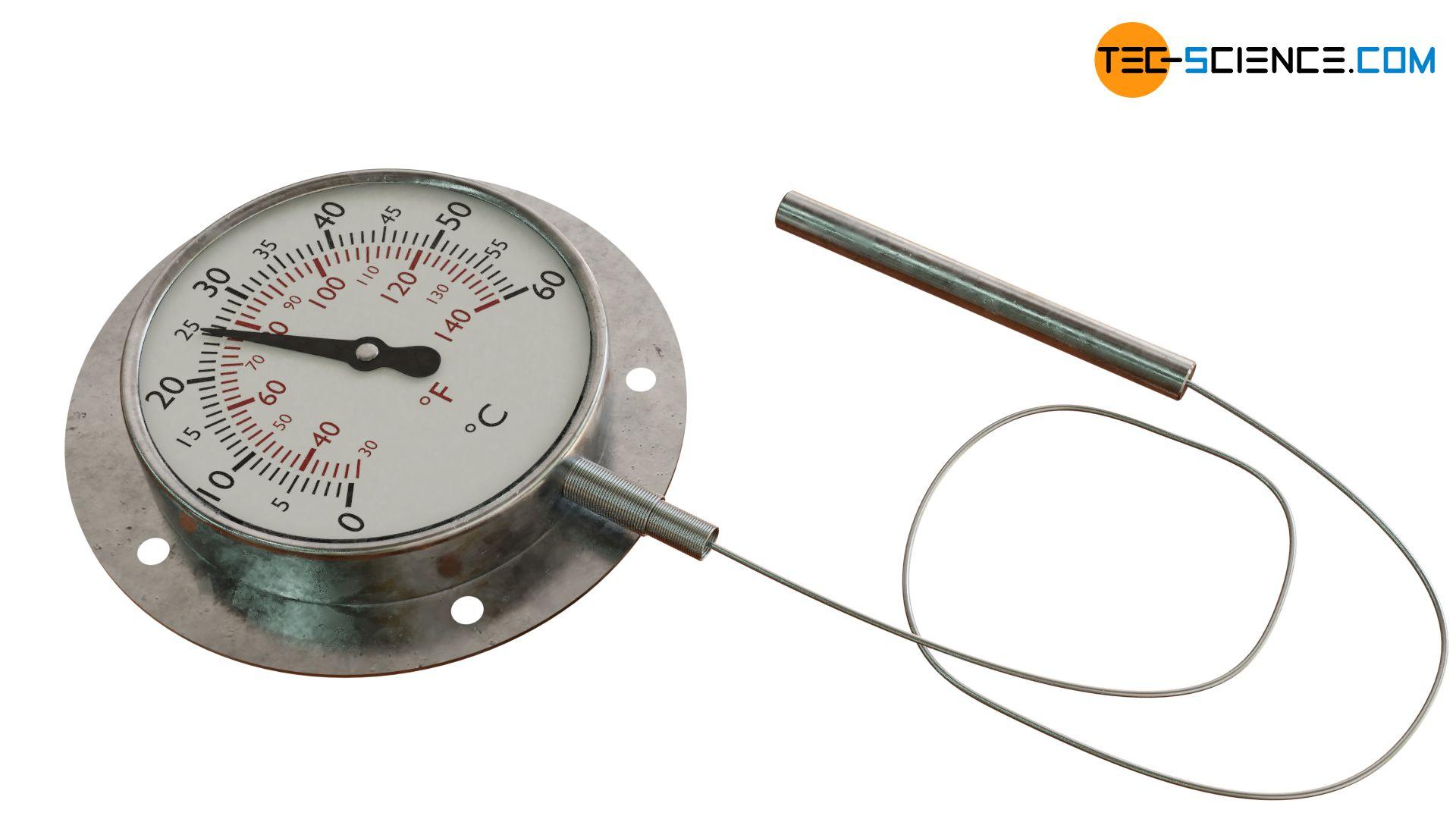 Flüssigkeitsdruck-Federthermometer mit flexibler Kapillarleitung
