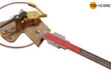 Schnitt durch ein Gasdruck-Federthermometer