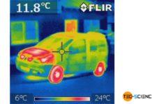 Wärmebild eines Autos