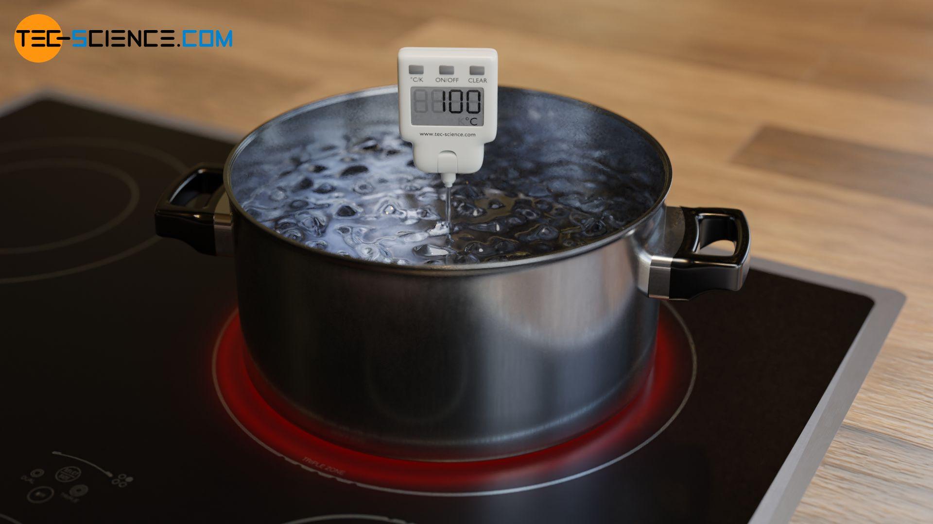 Keine Temperaturänderung trotz Wärmezufuhr beim Verdampfen von Wasser
