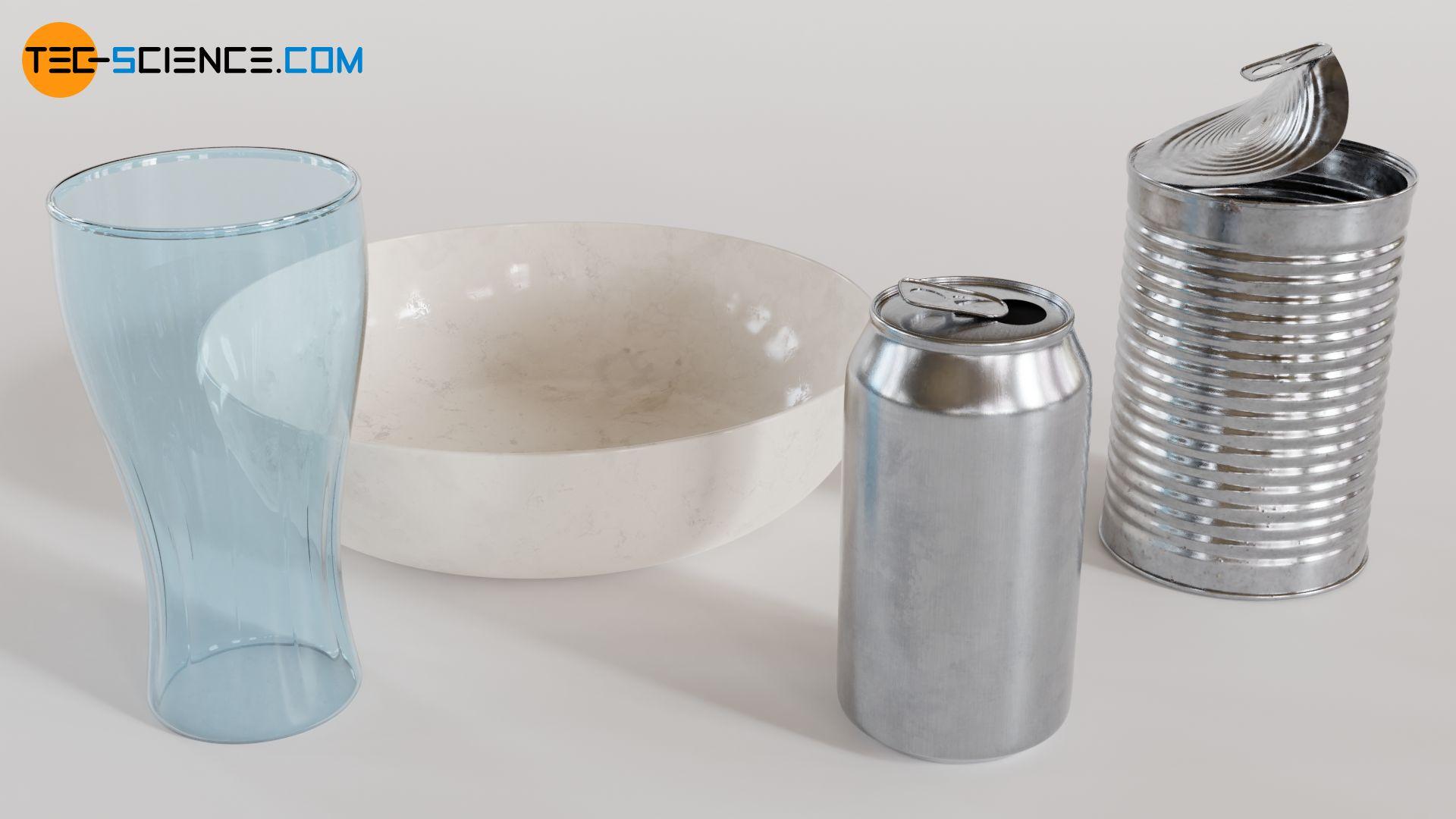 Gegenstände bestehend aus einem einzigen Material