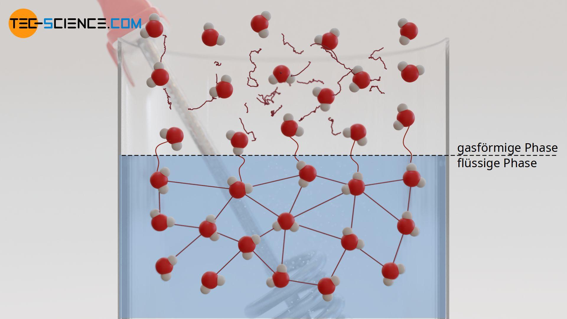 Übergang von der flüssigen in die gasförmige Phase