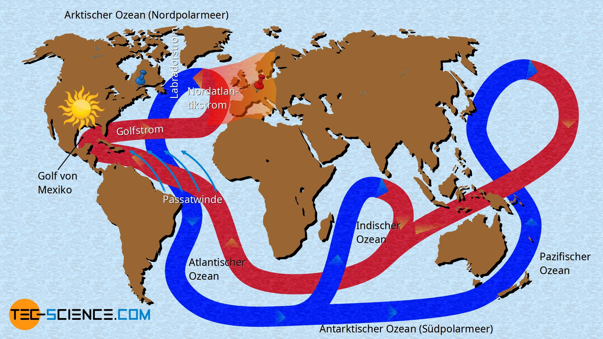 Globales Förderband der Erde (Golfstrom)