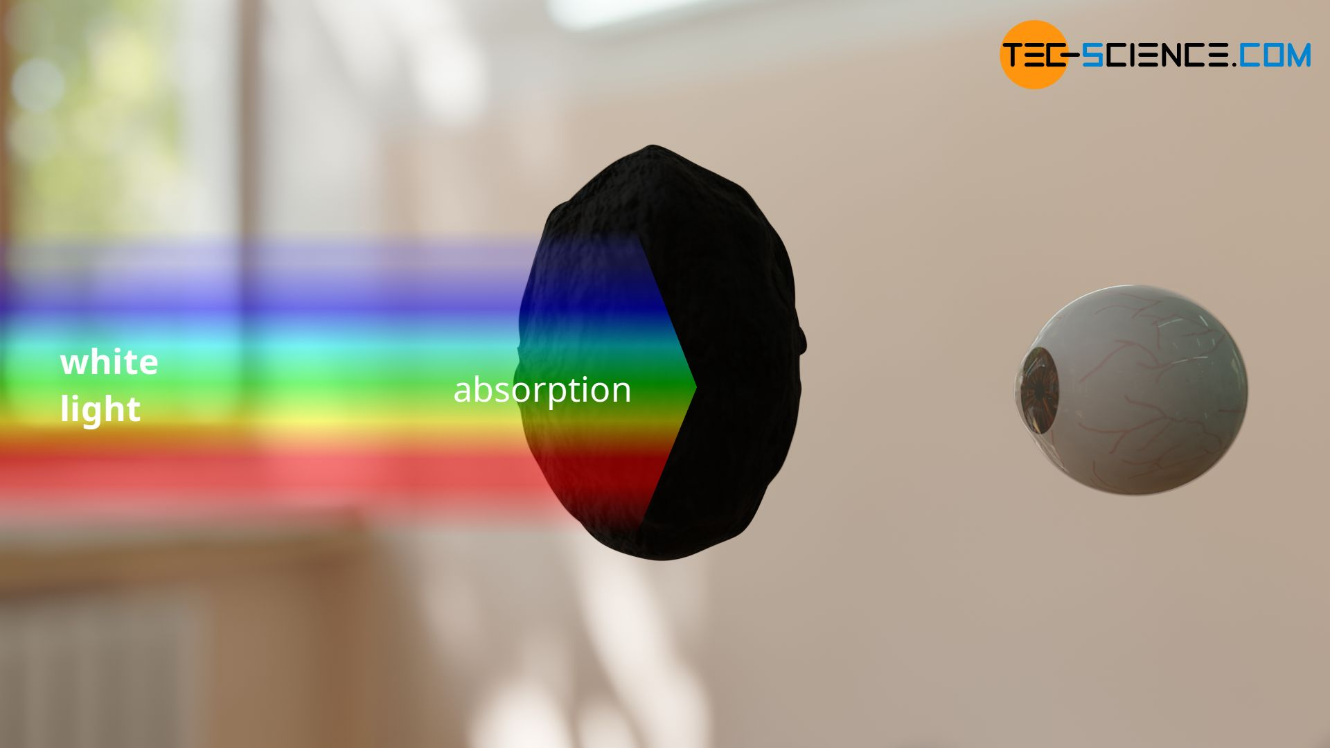 Color vision of a black object