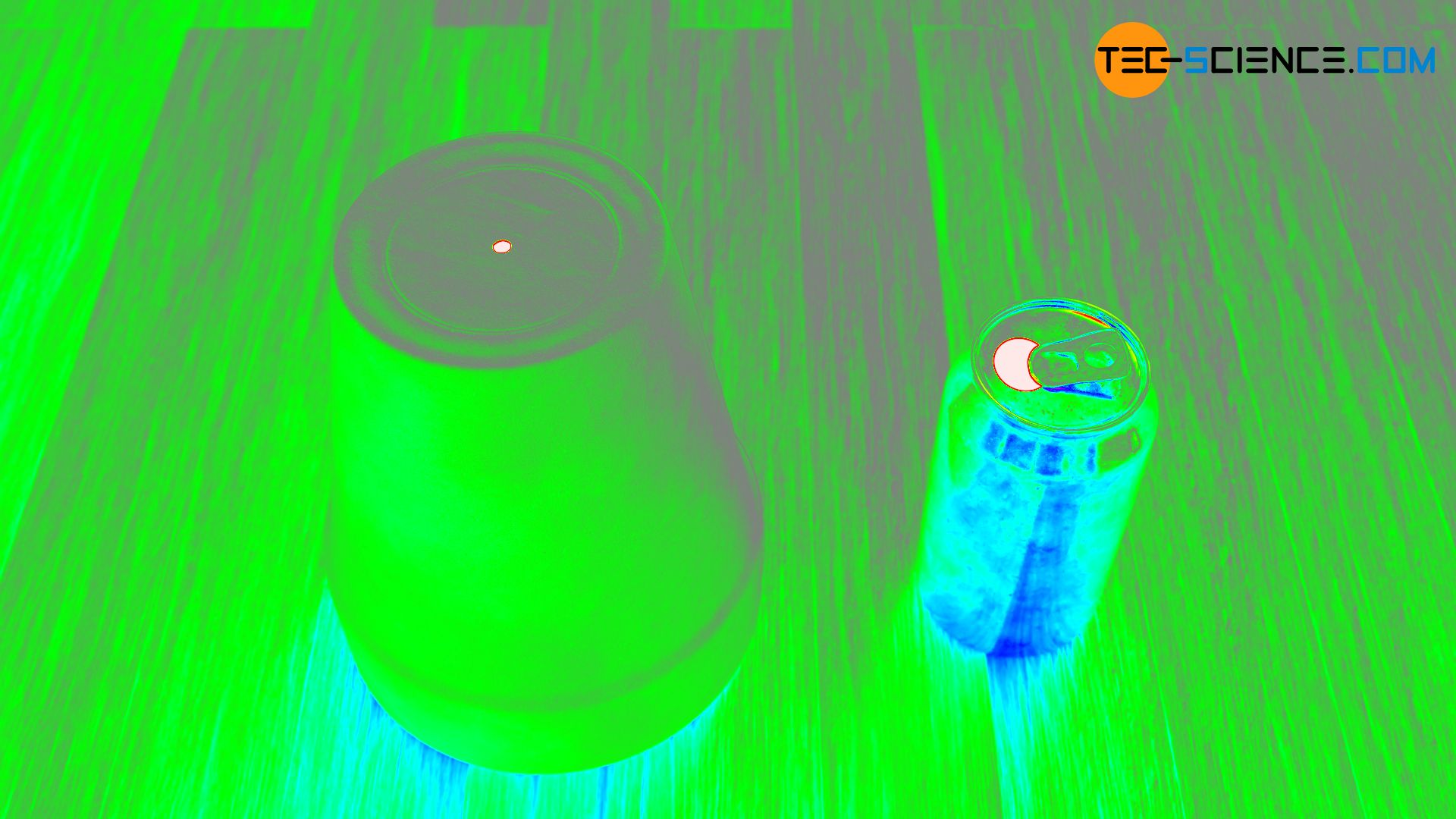 Illustration of thermal radiation in false colors