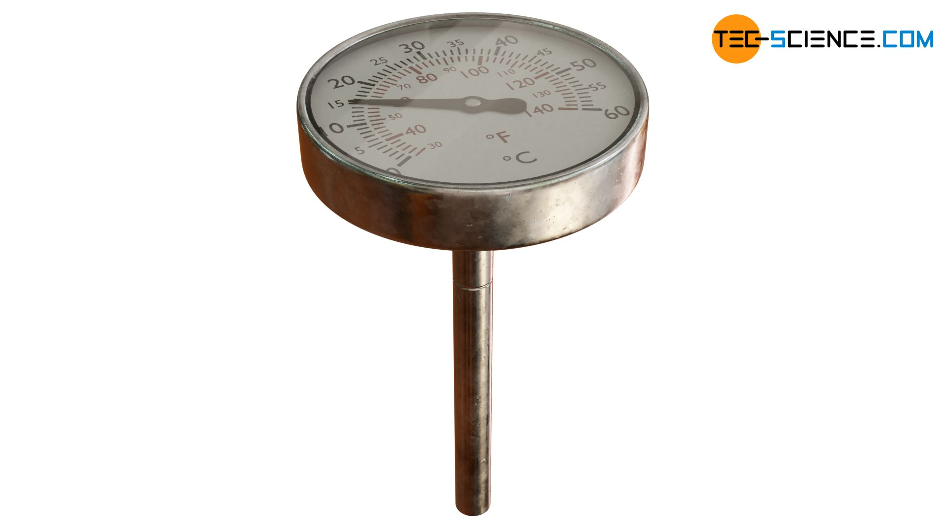 Bimetal thermometer (helical type)