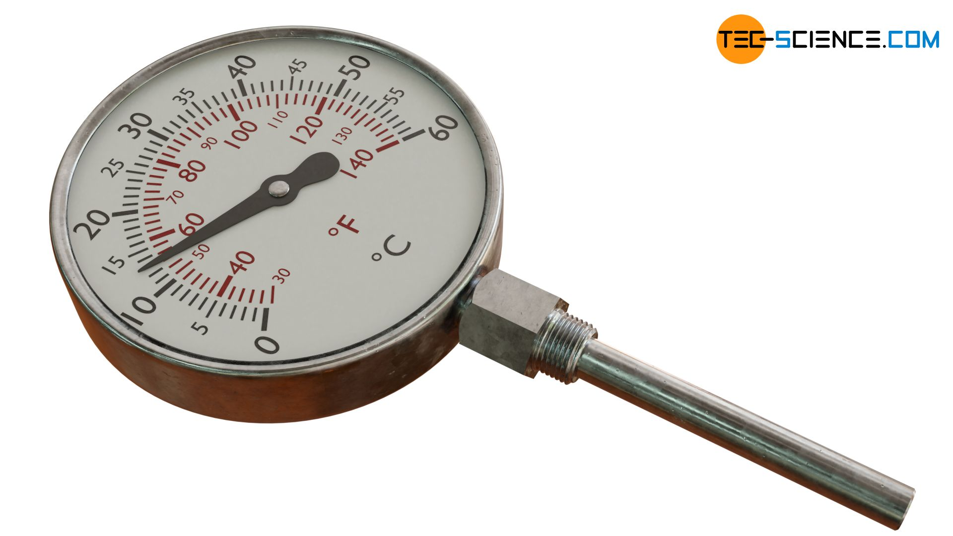 Liquid filled thermometer (liquid-in-metal thermometer)