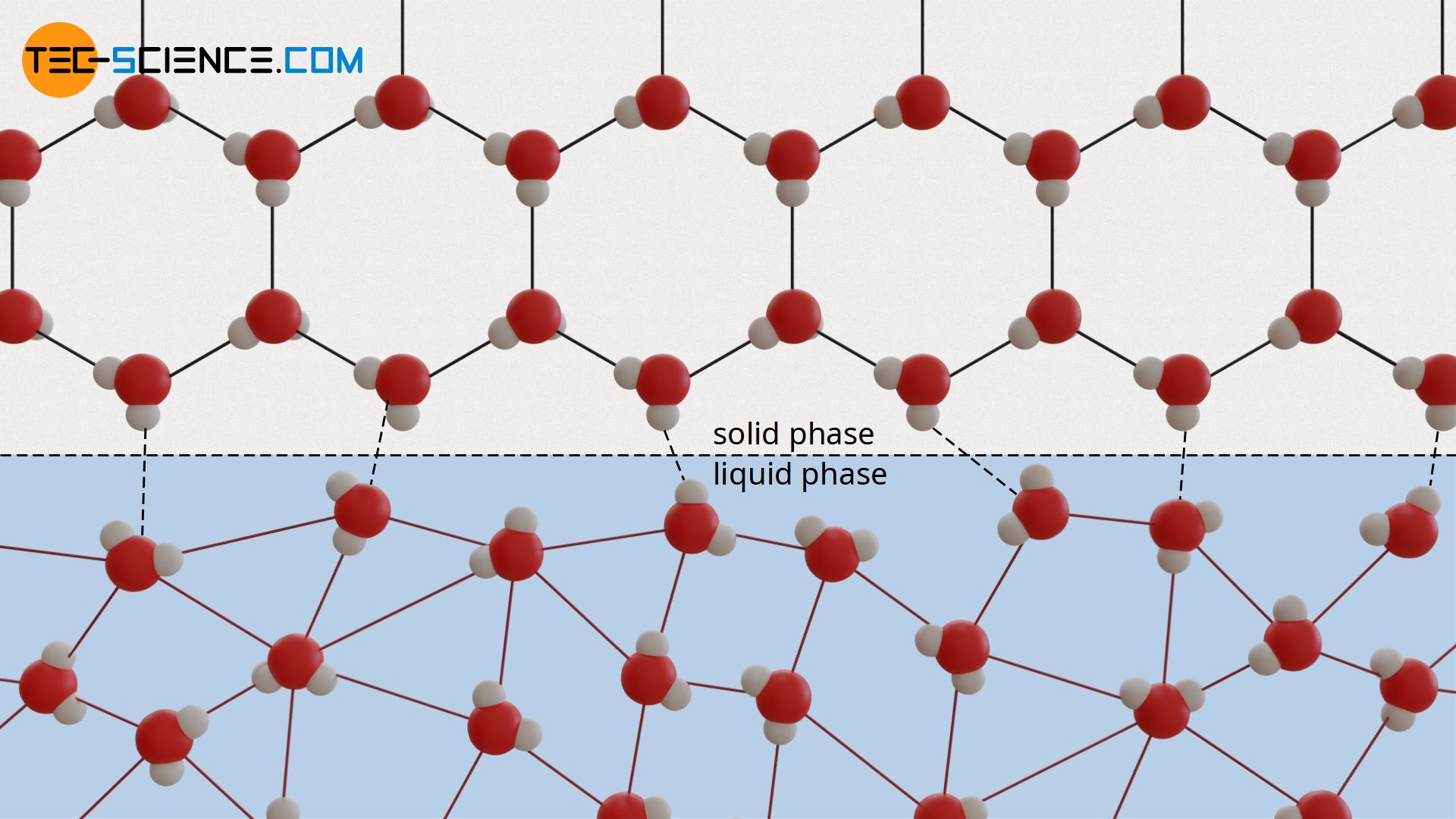 Transition from the solid to the liquid phase