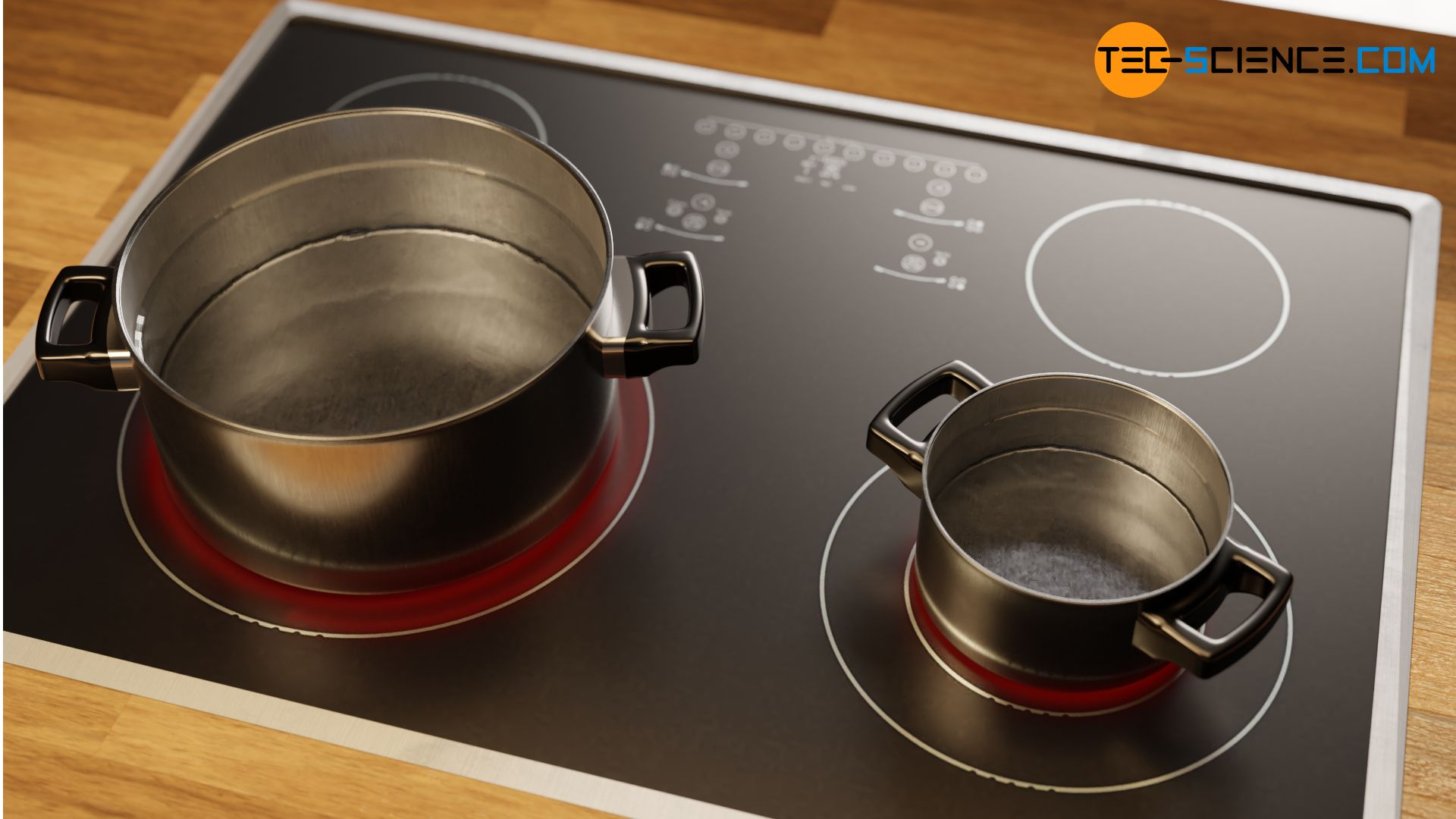 Heating of different amounts of water on a hotplate