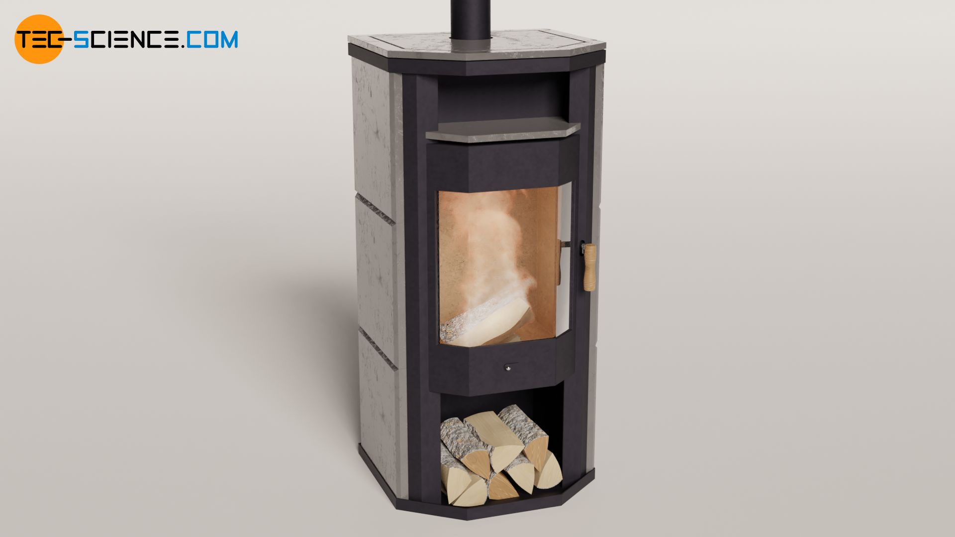 Heat capacity of a stove made of different materials