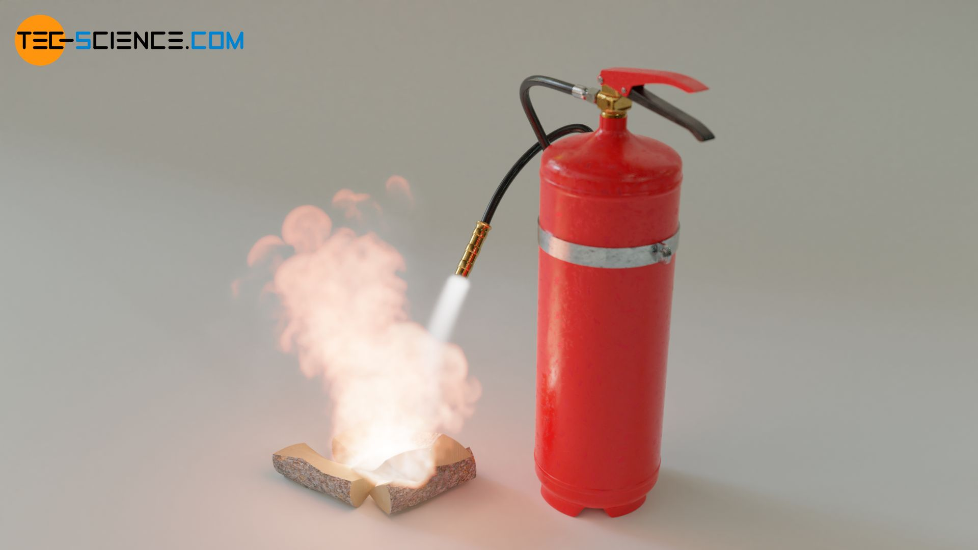 Extinguishing fire with water using a fire extinguisher