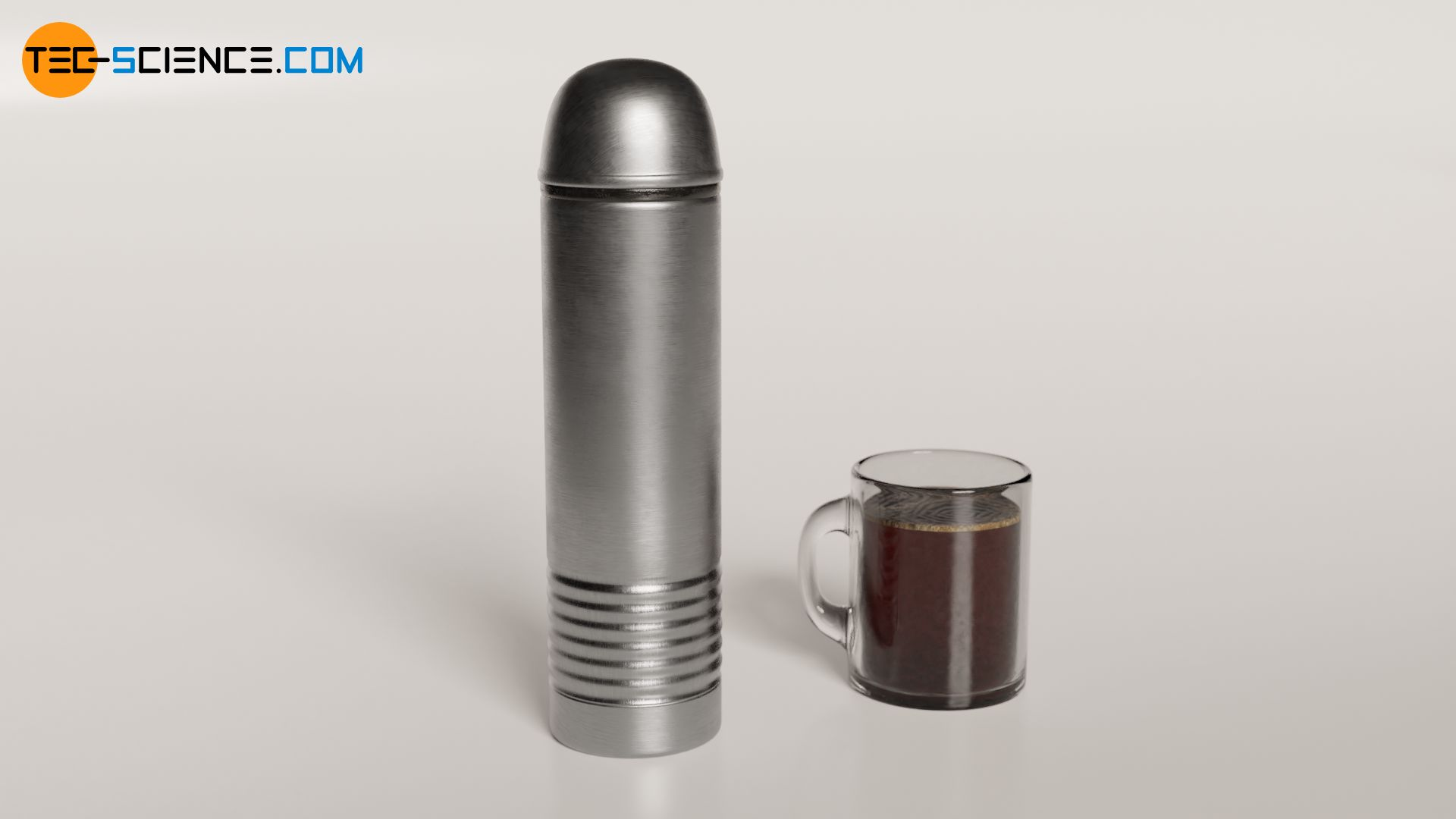 Thermos flask as an example of a isolated system