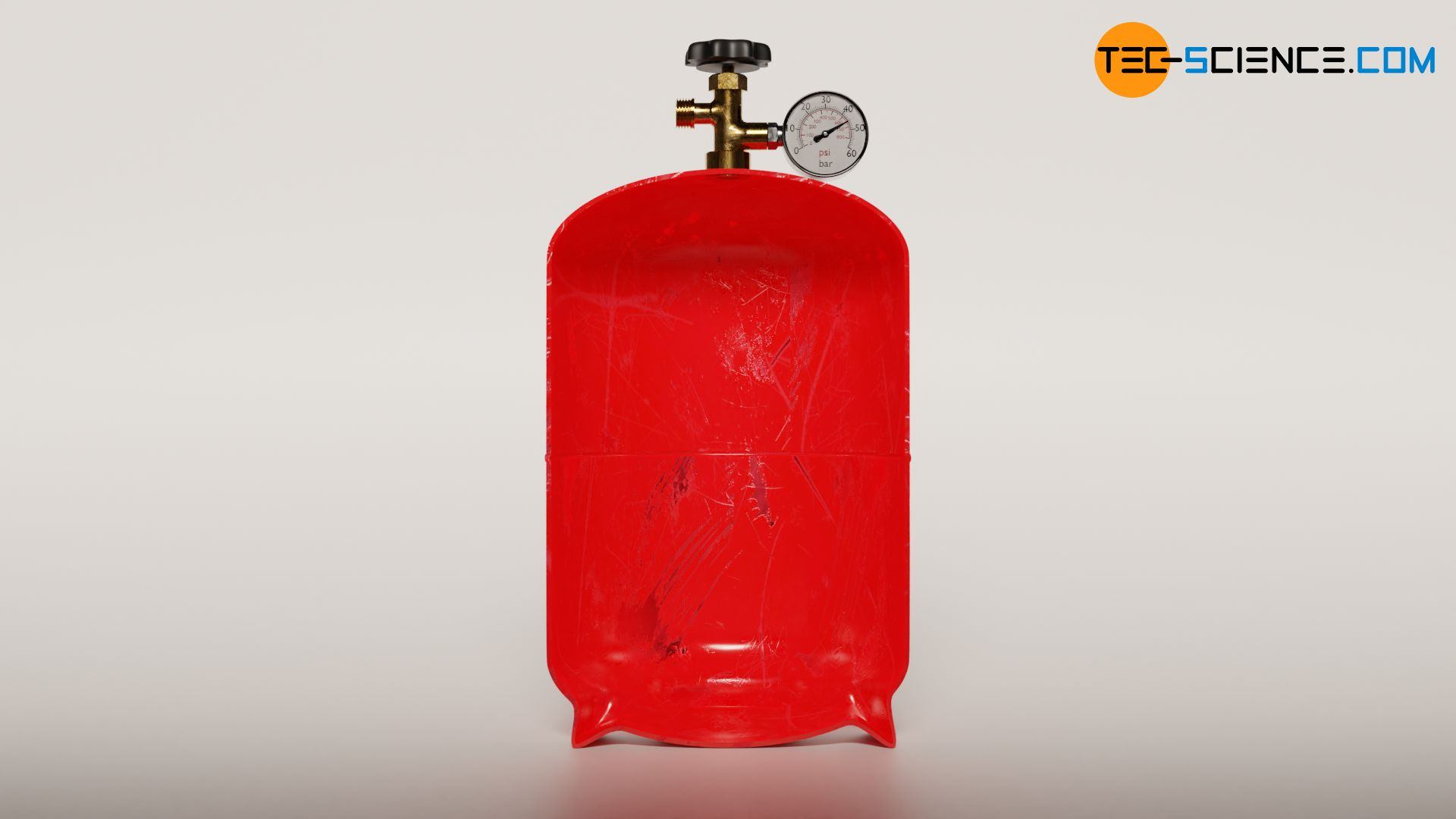 Isochoric process by heating a gas bottle (constant volume)